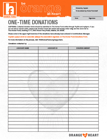 The Homer Fund One Time Donations 1 X